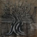 Olive Tree, acrylic 180x180 cm, 2018