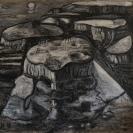 Massada, acrylic 190x180 cm, 2018