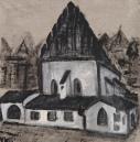 Altneu Synagogue, acrylic 60x60 cm, 2018